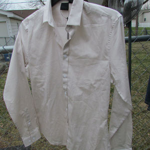 ASOS eggshell white /cream shirt NWT size Small